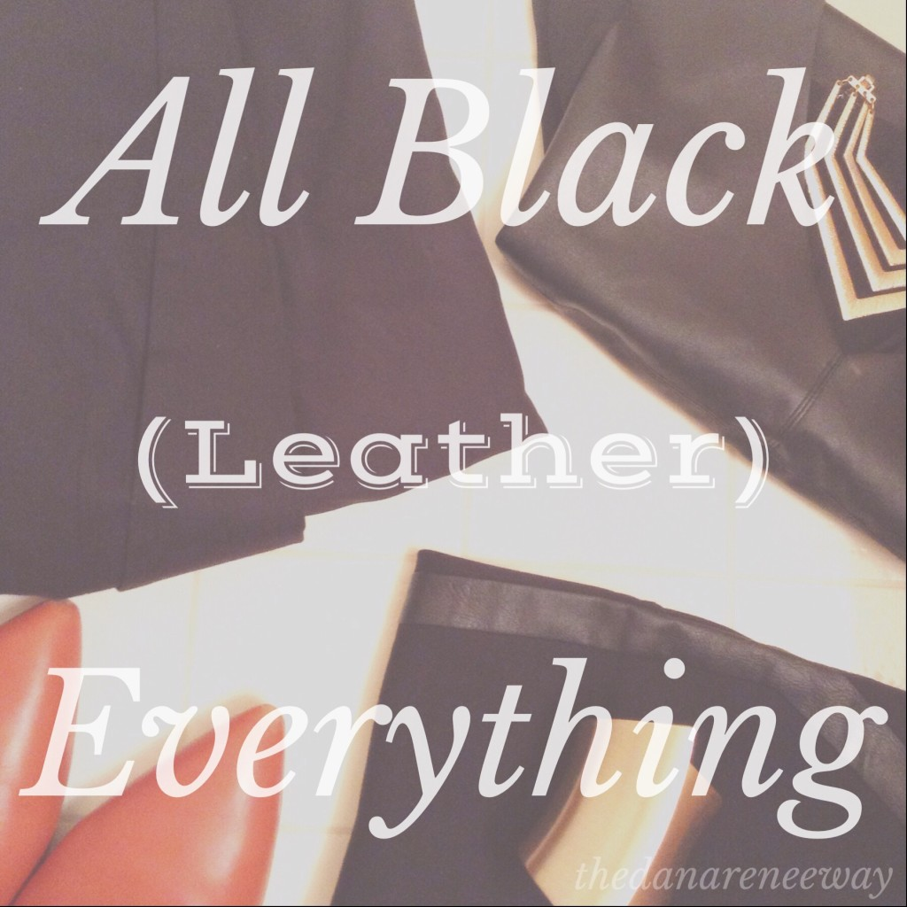 All Black Leather Everything