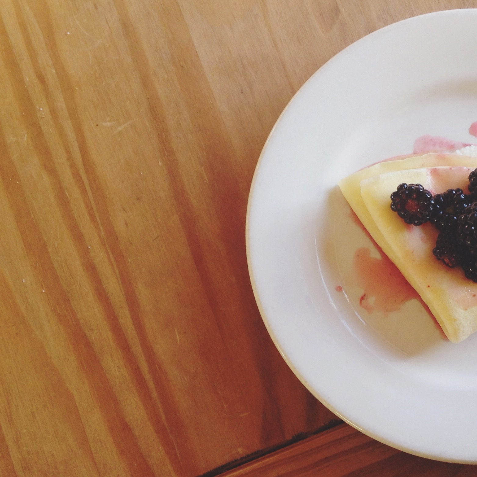 Ricotta Filled Crepes with a Lemon Blackberry Topping – www.thedanareneeway.com