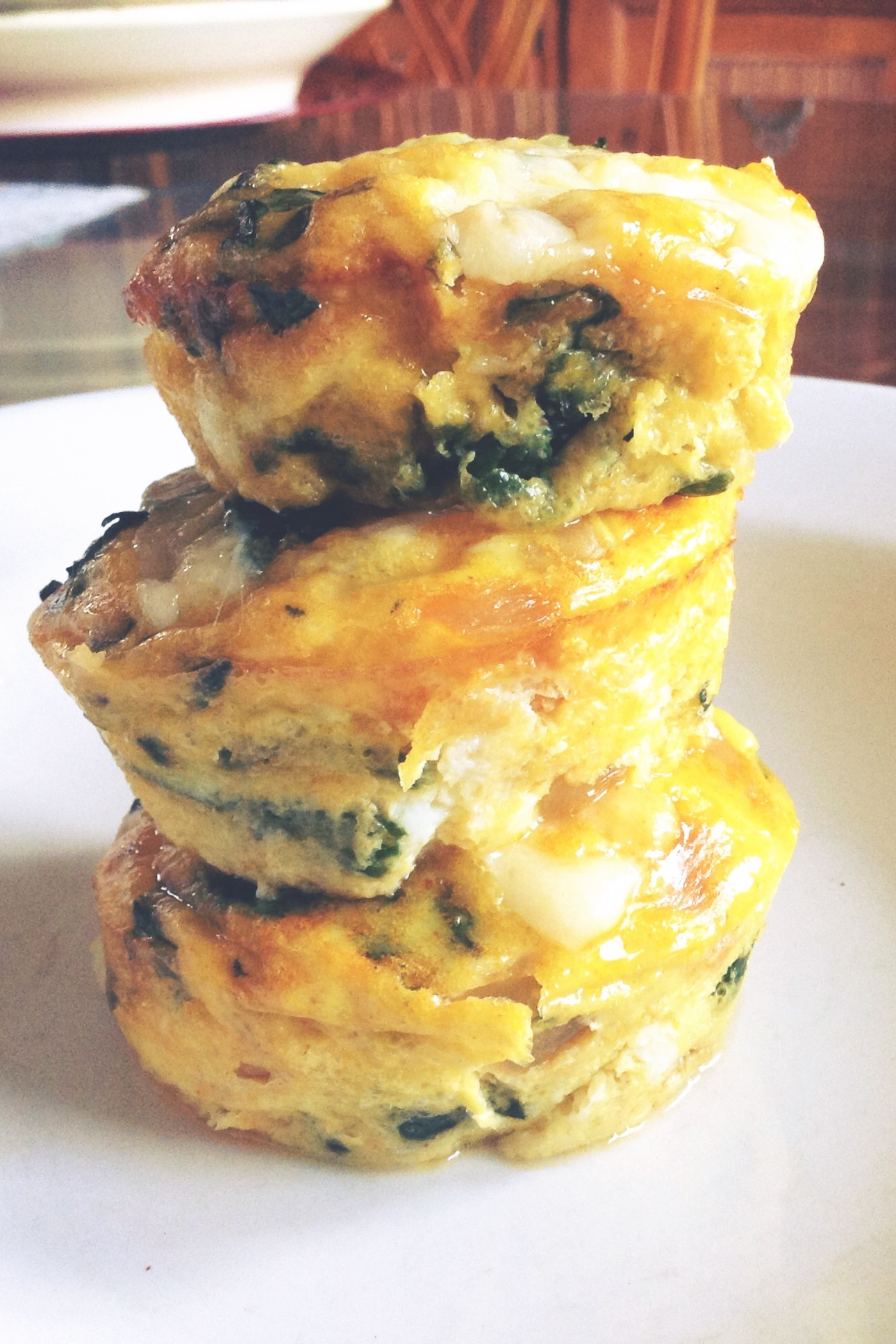 Spinach & Gruyère [Mini] Fritatta on thedanareneeway.com