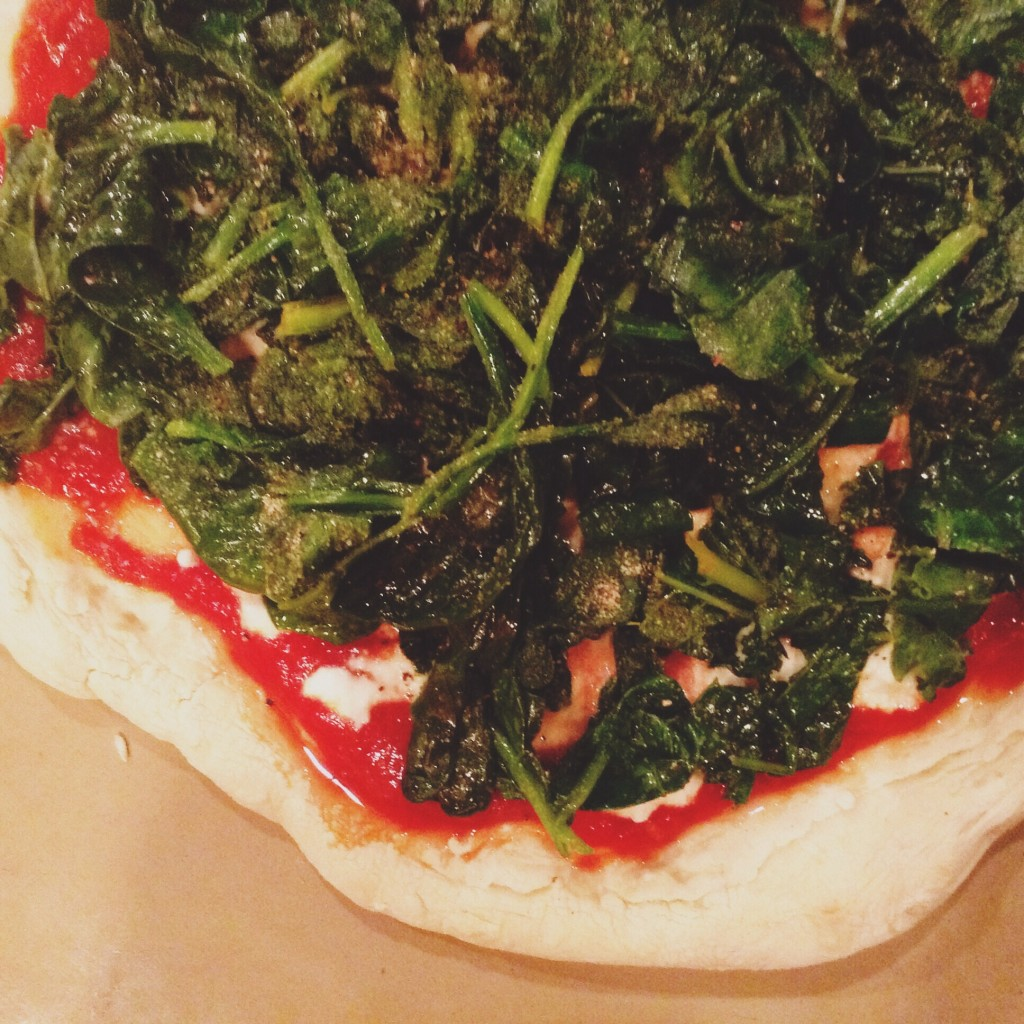 Test Kitchen - Kale Ricotta Pizza
