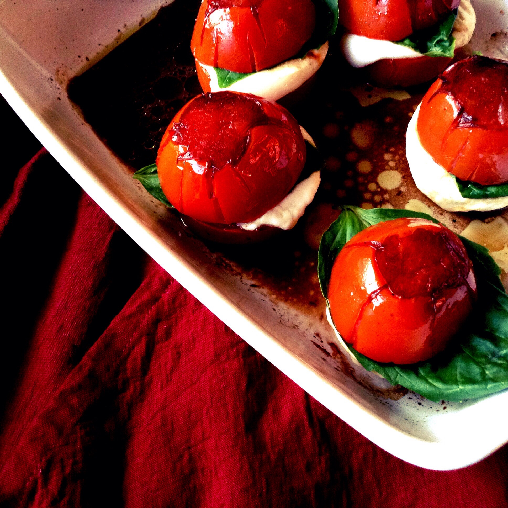 Warm Caprese Salad on www.thedanareneeway.com
